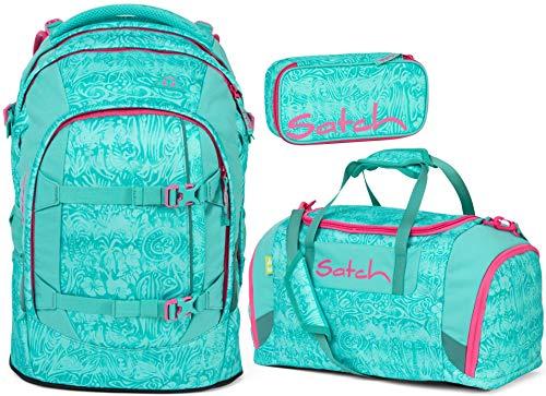 Satch Pack Aloha Mint 3er Set Schulrucksack, Sporttasche & Schlamperbox