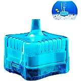 Yakamoz Mini Filtro aaquarium Goldfish Bowl Betta Fish Tank Filter todos tipo de agua cuña Filtro con Triple sistema de filtración para acuario Moin de 40cm altura azul