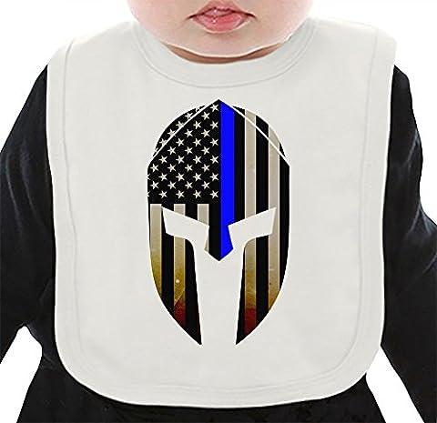 Blue Lives Matter Bavoir Organique Medium