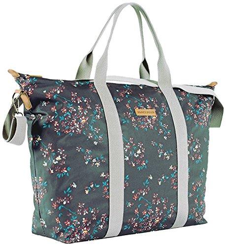Damen-Brakeburn Blossom über Nacht Reisetasche–Schwarz (Blossom Blk)