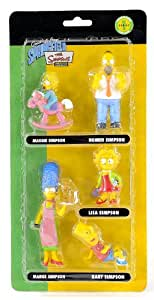 Unitedlabels - 0803653 - 5-teilig 3D Simpsons Figuren Set - Familie - The Simpsons