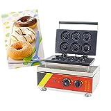 MXBAOHENG Macchina Commerciale per Ciambelle Macchina per Donut in Acciaio Inox Donut Maker Elettrico Donut Maker Machine 220V CE