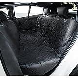 Travel Inspira - Autositzabdeckung für Haustiere, inkl. Sicherheitsgurt für haustierspezifische Autositze, wasserfeste Sitzabdeckung mit rutschfester Unterseite, Sitzbefestigungselementen und Seitenklappen, für Pkws, Lkws und Geländewagen (137 x 147 cm)