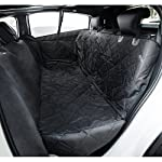 travel inspira Dog Seat Cover for Pets Pet Hammock for Cars SUV Trucks Waterproof Nonslip with Car Seat Belt & Side… 3