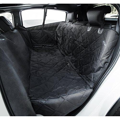 travel inspira Funda de asiento de coche para mascotas, con cinturón para mascotas como bonus, impermeable con refuerzo antideslizante, anclajes de seguridad y solapas laterales para coches, camiones y SUV (137 x 147 cm)