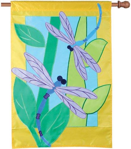 Premier 52548House Flagge mit Applikation, zwei Libellen, 28von 101,6cm