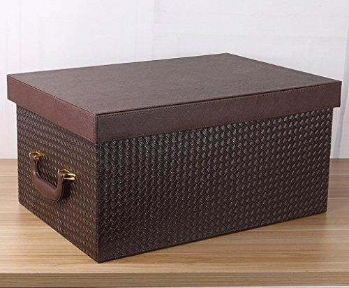 Pengye Leder Extra große Aufbewahrungsbox Aufbewahrungsbox Verschiedene Aufbewahrungsbox Spielzeug Kleidung Aufbewahrungsbox Bett Aufbewahrungsbox (Color : Brass) (Lkw-bett-werkzeug-speicher)