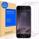GeekerChip Verre trempé iPhone 6/6S Protecteur d'écran[3 pièces], Protection écran en Verre Trempé Films Vitre pour iPhone 6/6S