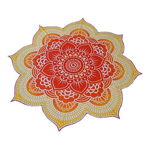 Tapiz Tiro Estera de Yoga Colcha Dormitorio Hippie Mandala Estilo de Bohemio Redonda