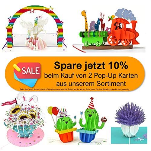 3D Geburtstagskarte, Einhorn mit Regenbogen - 6