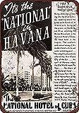 JeremyHar75 1938 National Hotel of Cuba en La Habana Vintage Retro Metal Signos de la Pared Placa de Lata Funny Warning Signs para decoración de la casa 8 x 12 Pulgadas