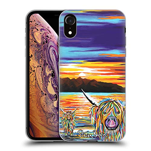Price comparison product image Official Steven Brown Isla & Arran Mccoo Highland Cow Collection 2 Soft Gel Case for iPhone XR