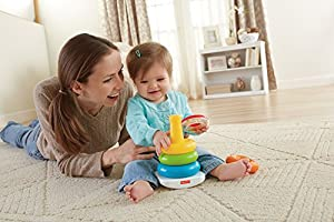 Fisher-Price FHC92 Rock-A-Stack, Baby Educational Stacking Toy Rings, Suitable for 6 Months Plus