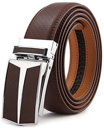 c12fafd7f98af BULLIANT Belt for Men, Men's Automatic Ratchet Belt Of Genuine Leather,Trim  to Fit