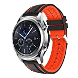 Ansenesna Sport Bracelet Smartwatch Silikon Armband Fitness Tracker Runtastic für Samsung Gear S3 Classic Wasserdicht (Orange)