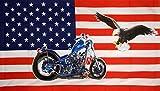 U24 Fahne Flagge USA Motorrad Harley mit Adler 90 x 150 cm