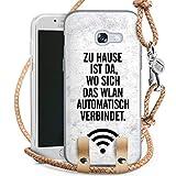 DeinDesign Samsung Galaxy A3 2017 Carry Case Hülle Zum Umhängen Handyhülle mit Kette WLAN Home Zuhause
