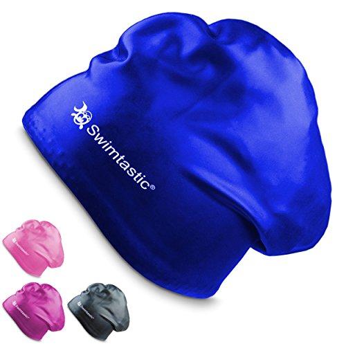 Swimtastic Bademütze speziell für langes, dickes oder lockiges Haar