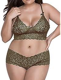 a5f92fffb3052 Amazon.co.uk  Green - Lingerie Sets   Lingerie   Underwear  Clothing