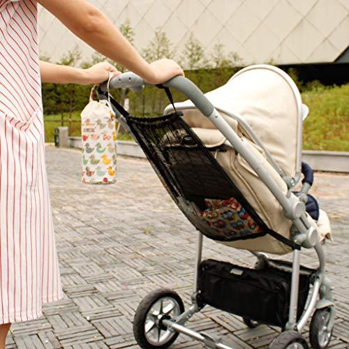 Lorsoul Trolley-Netz Beutel Kinderwagen Organizrer Mesh Aufbewahrungs Hanging Warenkorb Taschen Infant Praktisches Zubehör -