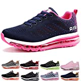 frysen Herren Damen Sportschuhe Laufschuhe mit Luftpolster Turnschuhe Profilsohle Sneakers Leichte Schuhe Blue Plum 37