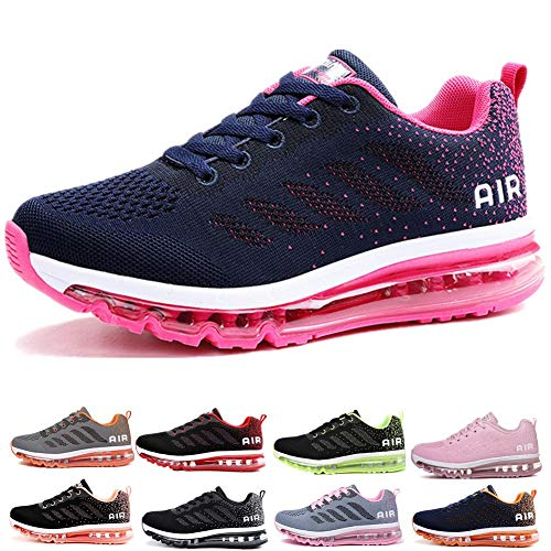 Uomo Donna Air Scarpe da Ginnastica Corsa Sportive Fitness Running Sneakers Basse Interior Casual all'Aperto Blue Plum 37 EU