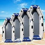 YUHAIJIE 175-260cm PVC Gonflable Bateau résistant à l'usure Pliable air Aviron Kayak/Pompe à air pour 2-8 Personnes Sports de pêche en Plein air,2m