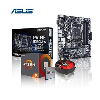 Memory PC Aufrüst-Kit Bundle AMD Ryzen 5 1600X 6X 3.6 GHz, ASUS Prime B350M-A, komplett fertig montiert