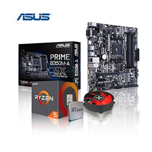 Preisvergleich Produktbild Memory PC Aufrüst-Kit Bundle AMD Ryzen 5 1600X 6X 3.6 GHz,  ASUS Prime B350M-A,  komplett fertig montiert