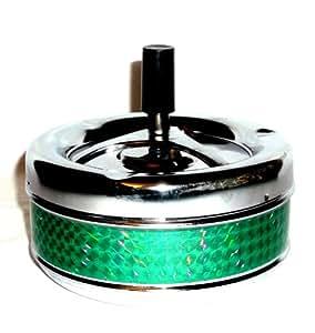 2x Cendrier rotatif Vent Cendrier Cendrier Cendrier XL 11cm Vert Neuf & Emballage d'origine