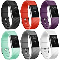 SnowCinda Fur Fitbit Charge 2 Armband, Verstellbares Ersatzarmband TPU Design Bands Fitness Zubehor fur Fitbit Charge 2 SmartWatch