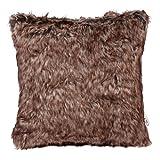 Deluxe Luxus Kissen–Cosy Forest Bear Fake Kunstfell Bett Sofa Kissen Rosy Braun/Ghost weiß/grau Home Decor 40X 40cm