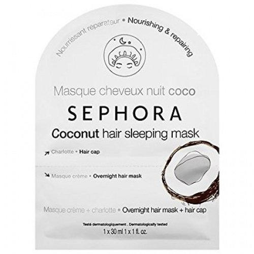 SEPHORA Coconut Hair Sleeping Mask, nourishes and regenerates hair 30 ml + 1 hair cap