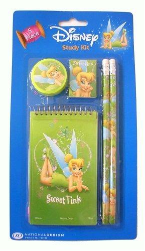 Disney Tinkerbell Tinker bell Study kit : 5 pcs School accessories