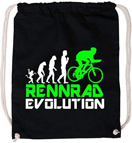 EZYshirt Rennrad Evolution Baumwoll Stoffbeutel