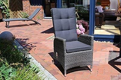 Destiny Sessel Tampa Komfortsessel Hochlehner Verstellsessel Polyrattan Alu von Destiny auf Gartenmöbel von Du und Dein Garten