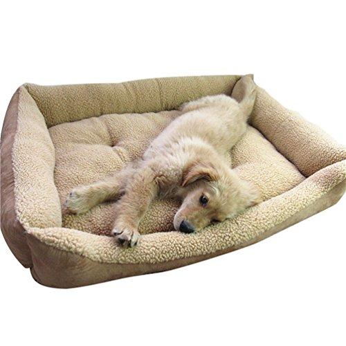 Yiiquan animale domestico nido letto cani gatti casa cuccia morbida per cane gatto (luce marrone, asia s)