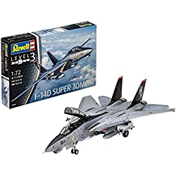Revell- Grumman F-14D Super Tomcat, Kit de Modelo, Escala 1:72 (3960) (03960), 26,0 cm (