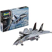 Revell Maqueta de avión 1: 72–Grumman F de 14d Super Tomcat en escala 1: 72, nivel 3, réplica exacta con muchos detalles, 03960