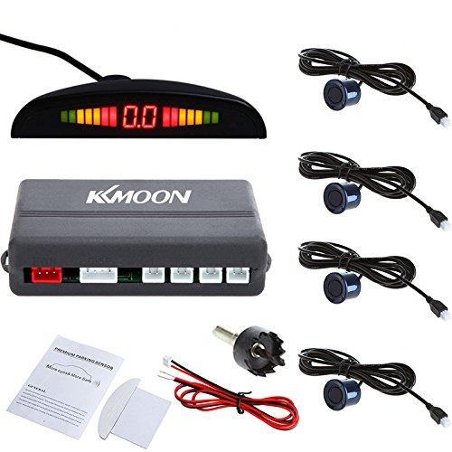 KKmoon Detector de Radar Sistema de Aparcamiento con 4 Sensores de Coche