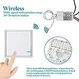 TSSS Hotel Bar Wireless Lichtschalter mit Empfänger Kit Außen 1900 ft Drinnen 200 ft Ferngesteuert Deckenlampe LED Lampen Birne IP54 Damp Proof -30 ~ + 75 ? Vergleich