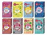 Teekanne Organics Tee 8er Set - Ginger Lemon, Start your Day, Sleep & Dream, Calm und Relax, Oriental Chai, English-Breakfast, Sweet-Apple und Sweet-Mint (8 x 20 Doppelkammerbeutel, 288 g)