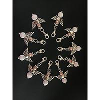 10 stylische Perlenengel mit Karabinerhaken, handmade, Schutzengel, Anhänger, Weihnachten, Weihnachtsgeschenk, Geschenkeanhänger