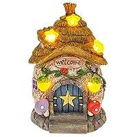 Solar Powered Illuminated Fairy Star Cottage / Dwelling Garden Ornament
