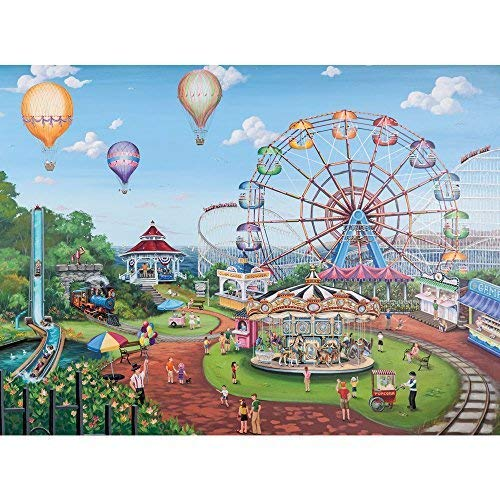 Bits and Pieces - 500 Piece Jigsaw Puzzle -Carnival Day - Ferris Wheel at the Fair - by Artist Joelle McIntyre - 500 pc Jigsaw -