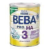 BEBA PRO HA 3 Folgenahrung ab dem 10. Monat, Folgenahrung mit hydrolysiertem Eiweiß, Pulver, 800 g Dose, wiederverschließbar mit praktischer Messlöffelablage