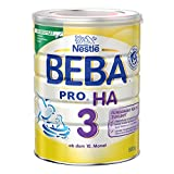 Nestlé BEBA Pro Ha 3 Folgenahrung, ab dem 10. Monat, 6er Pack (6 x 800 g), wiederverschließbar, mit praktischer Messlöffelablage, 800 g Dose