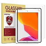OMOTON [2 Stück] Panzerglasfolie für iPad 10.2 (2019),[9H Härte] [Kristall-klar [Kratzfest] [bläschenfrei][Hülle Freundlich]