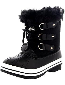 Unisex Kinder Pull On Drawstring Schliessen Winter Schnee Regen Pelz Gefüttert Stiefel