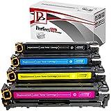 PerfectPrint Kompatible Toner patrone Ersatz für Canon I-Sensys LBP-7100cn 7110cw MF-8230cn 8280cw 731(schwarz/cyan/magenta/gelb, 4er Pack) - gut und günstig